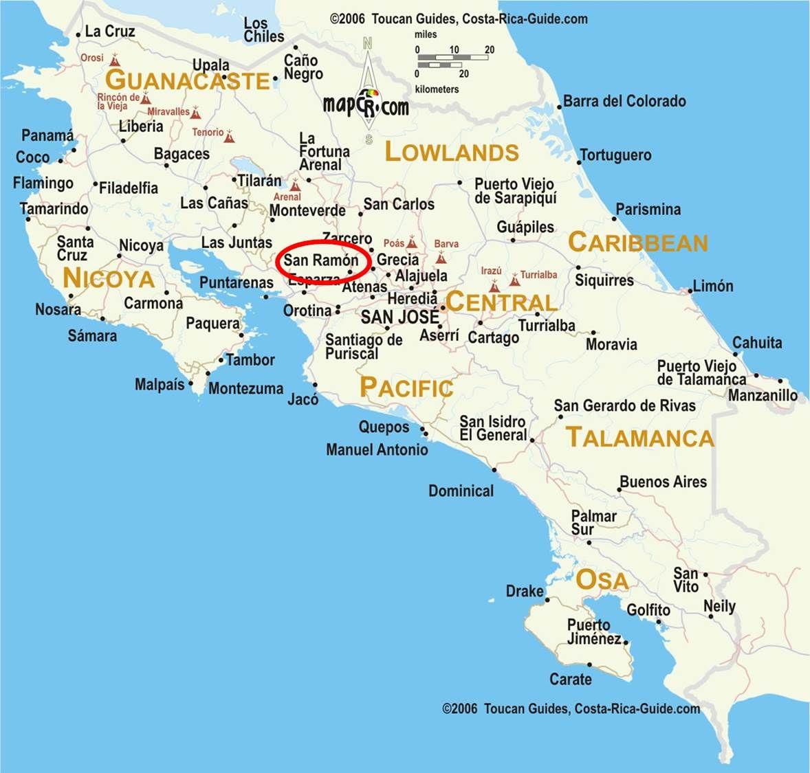 Map of Costa Rica the area around San Ramon is circled ... San Ramon Map on west roseville map, turlock map, south san francisco map, west covina map, san pablo map, port costa map, burlingame map, mission san jose map, santa rosa map, santa cruz costa rica map, tuolumne map, el sobrante map, lafayette map, rockridge map, sacramento map, richgrove map, san pedro map, marin city map, san lorenzo map, el dorado county california map,