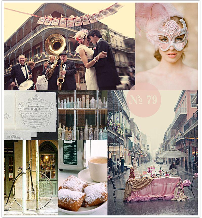 New Orleans Wedding Ideas: Mood Board #79: French Quarter (New Orleans Wedding