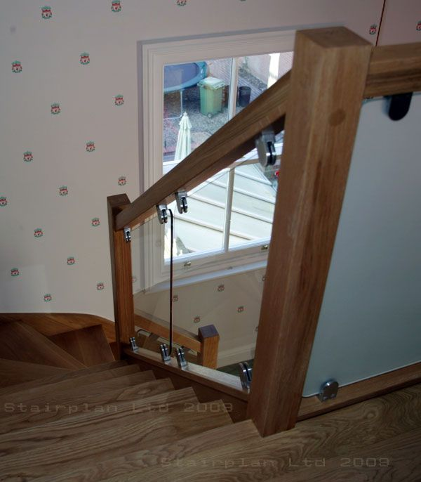 Glass Staircase Balustrade Kit: Glass Balustrade Panels With Brackets