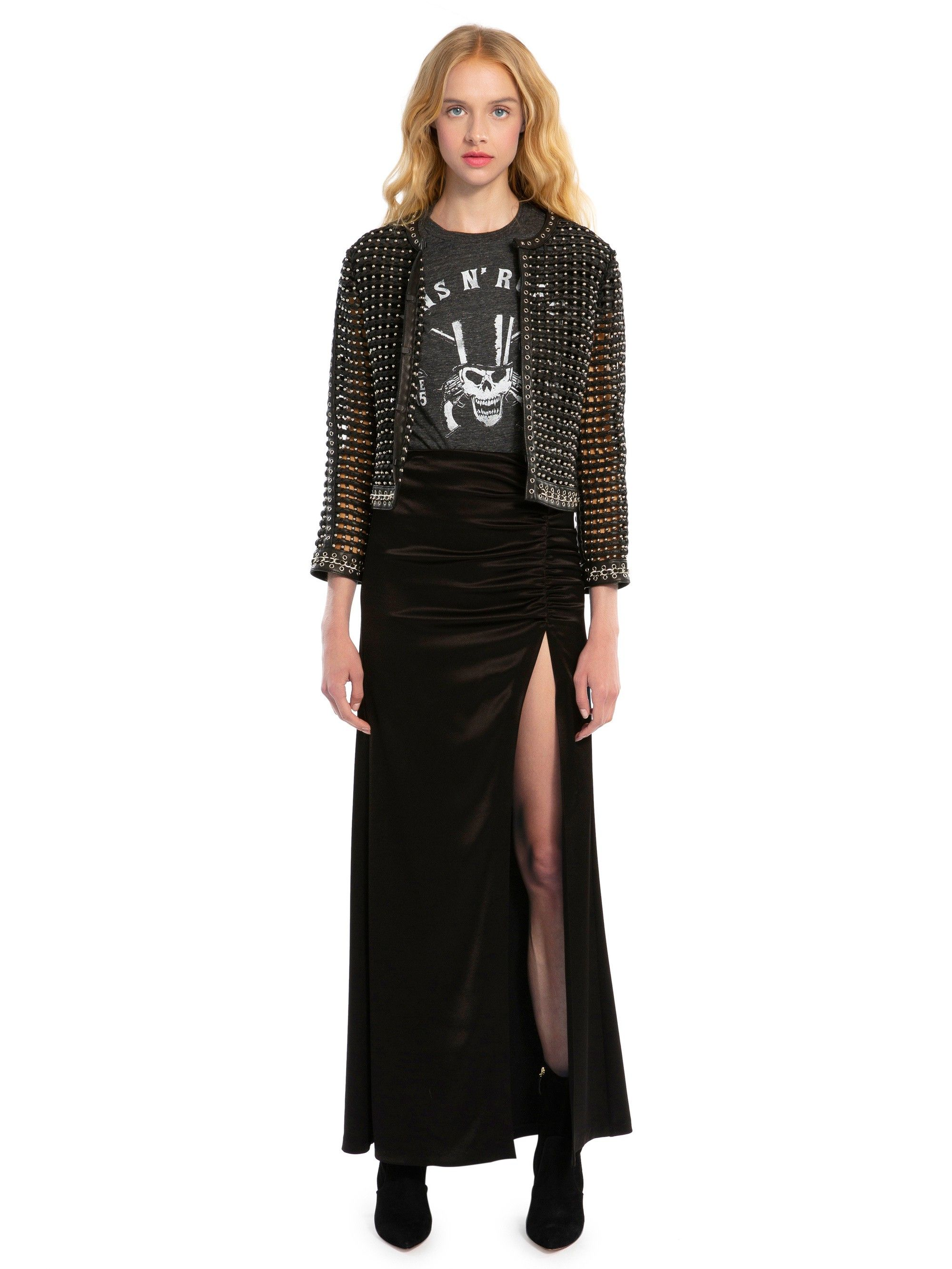 Alice olivia diana ruched maxi skirt black products
