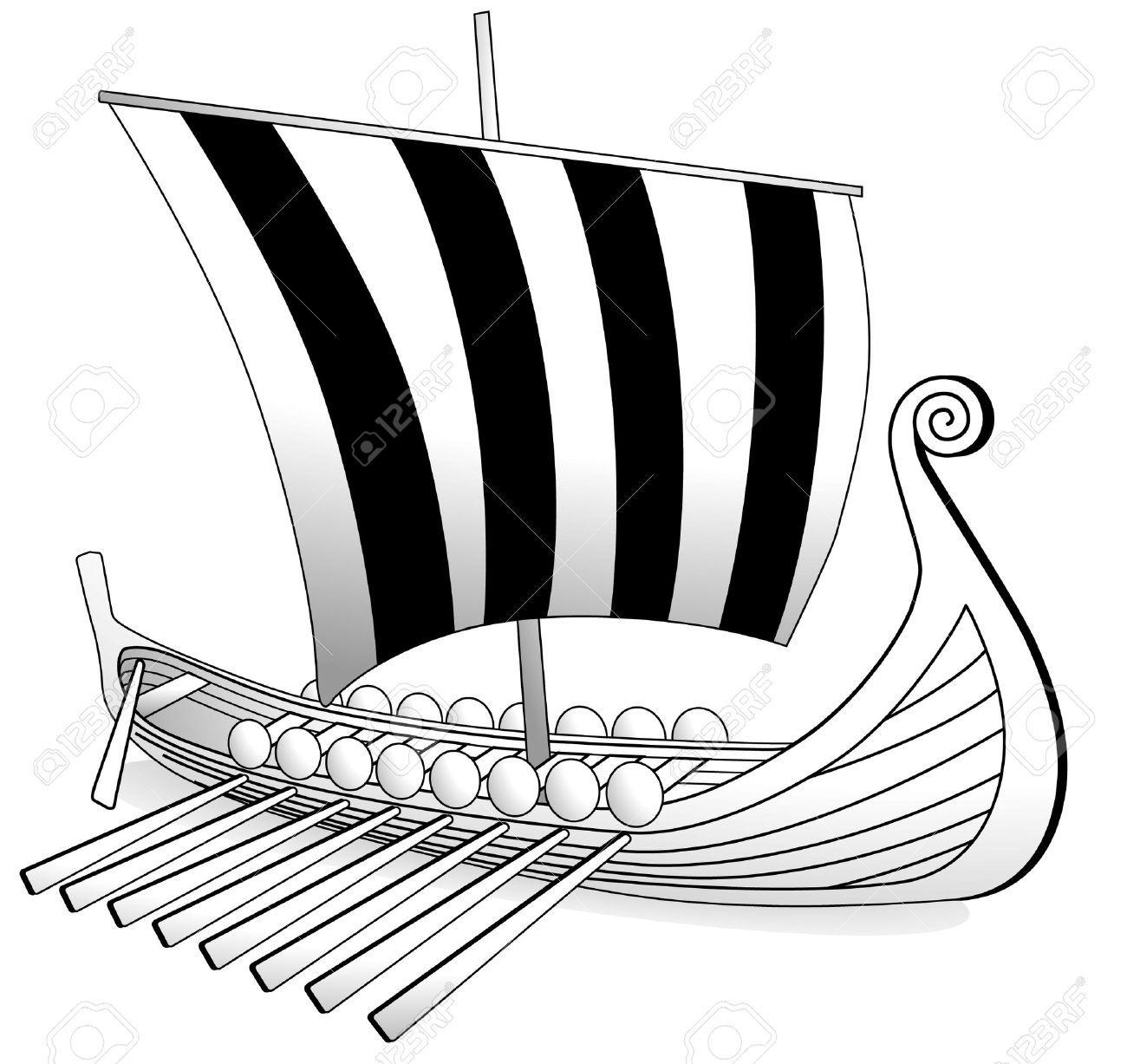 Vector Viking Boat Vikings Stock Images Free Boat
