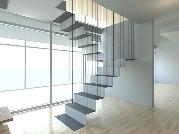 Delightful 21 Of The Most Interesting Floating Staircase Designs