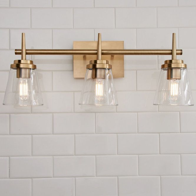 Photo of Tapered Spike Vanity Light – 3 lights
