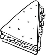 Sandwich Coloring Page Coloring Pages Birthday Coloring Pages