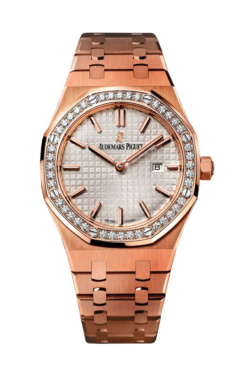 Audemars Piguet Ladies Royal Oak Rose Gold On Bracelet Audemars Piguet Audemars Piguet Royal Oak Piguet