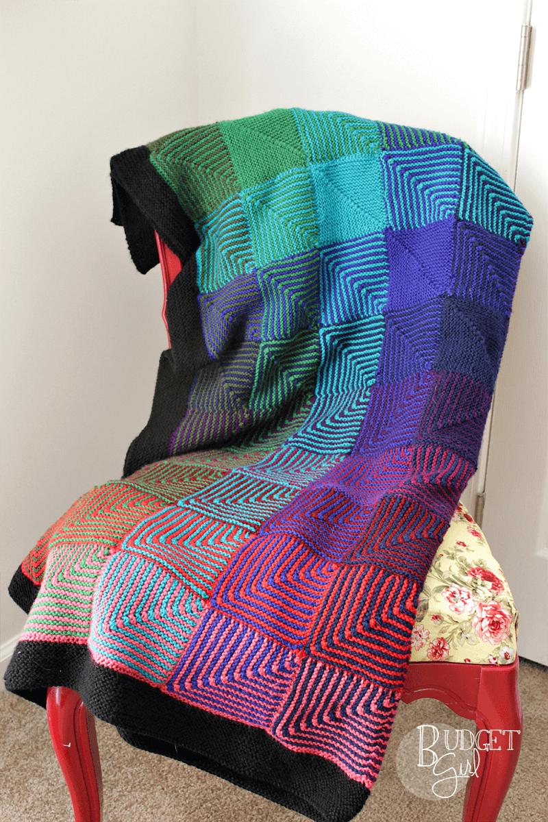 Hue Shift Afghan | Afghans, Knit patterns and Blanket