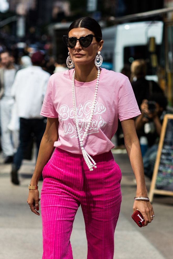 0d5d2af90df0 Street style at Fashion Week Spring-Summer 2018 New York Photo by Sandra  Semburg