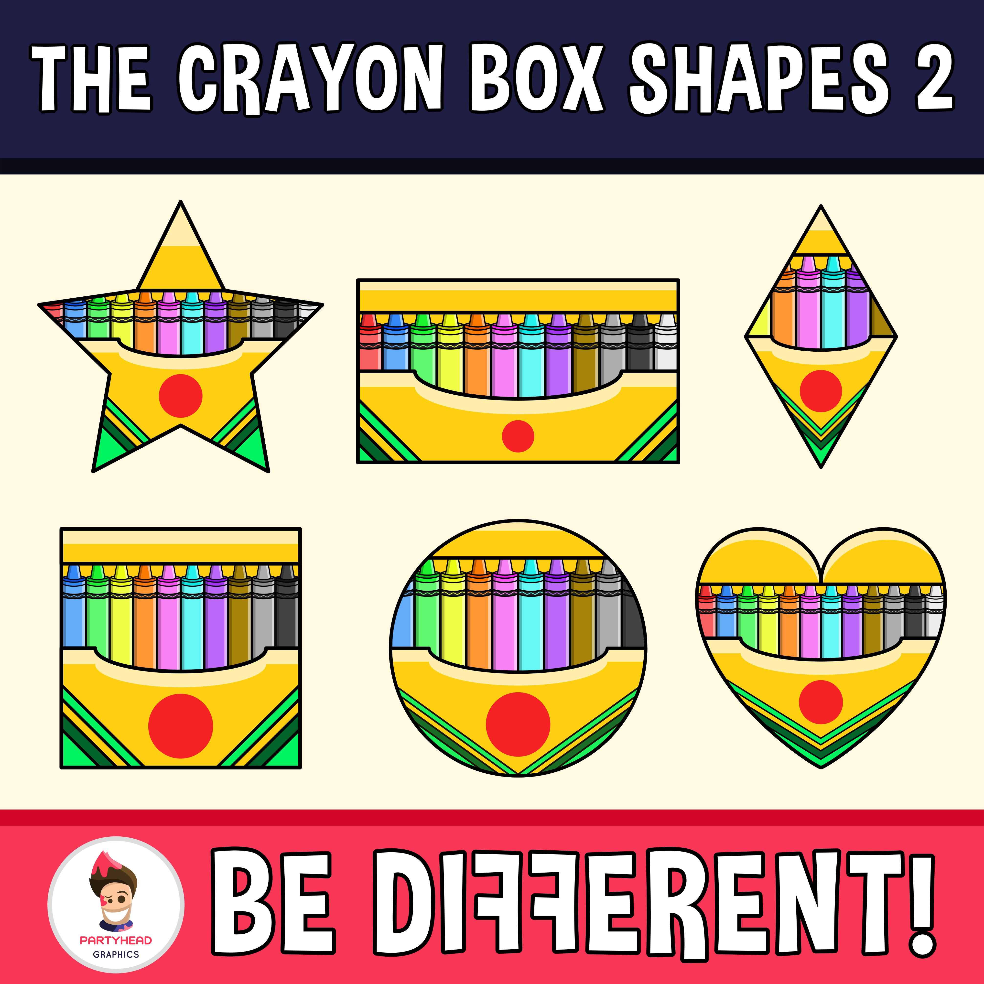 Crayon Box Shapes Clipart 2