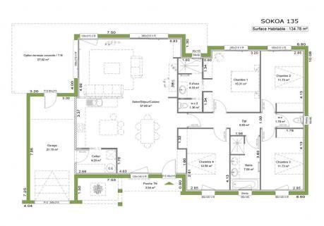 Prix maison toit plat 120m2 cool plan de maison plain for Prix maison a construire 120m2