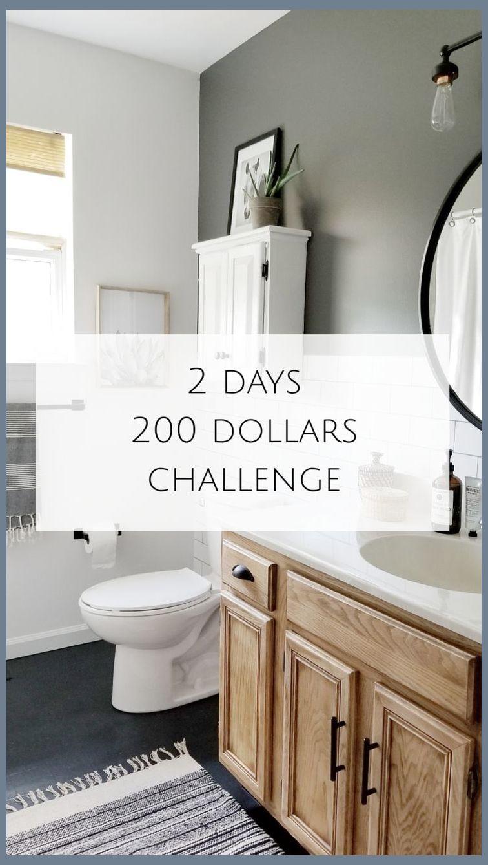 My 2 Days 200 Dollars Challenge Simple Bathroom Remodel Bathroom Remodel Diy Master Bat In 2020 Diy Bathroom Makeover Simple Bathroom Bathroom Renovation Diy
