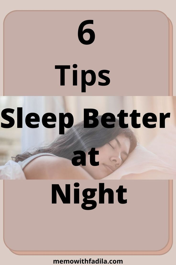 How To Sleep Better at night - Memo With Fadila -
