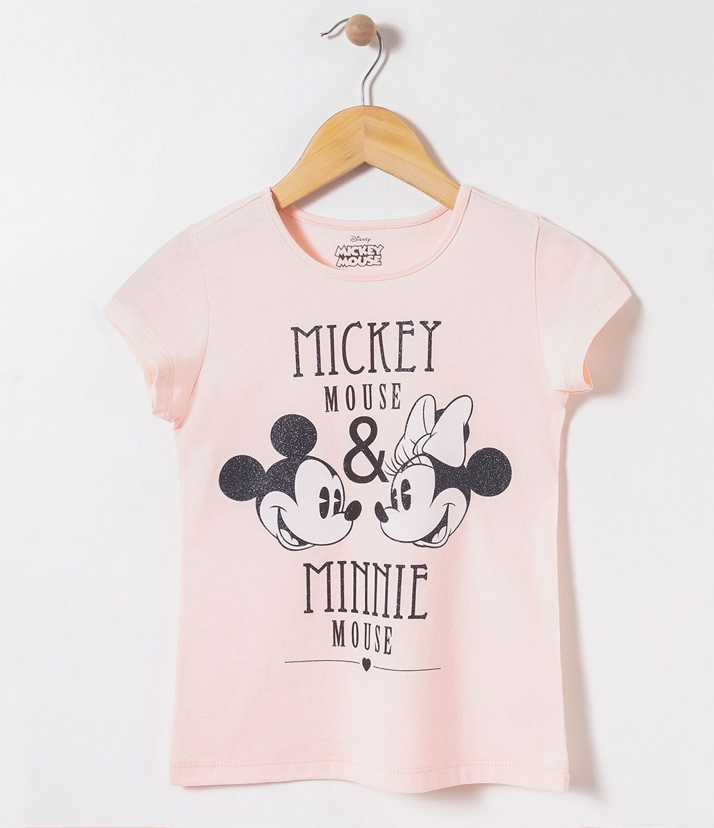 1ac5fbb32 Camiseta infantil Manga curta Gola redonda Com estampa Mickey e Minnie  Marca  Mickey Mouse Tecido  meia malha COLEÇÃO INVERNO 2017 Veja mais  opções de ...