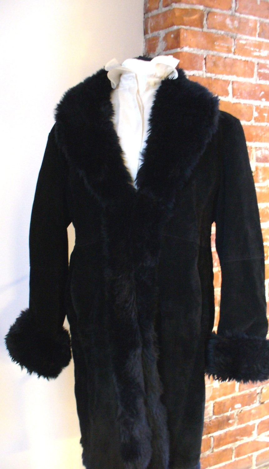 Wilsons Leather Suede & Faux Fur Coat Size XL (With images