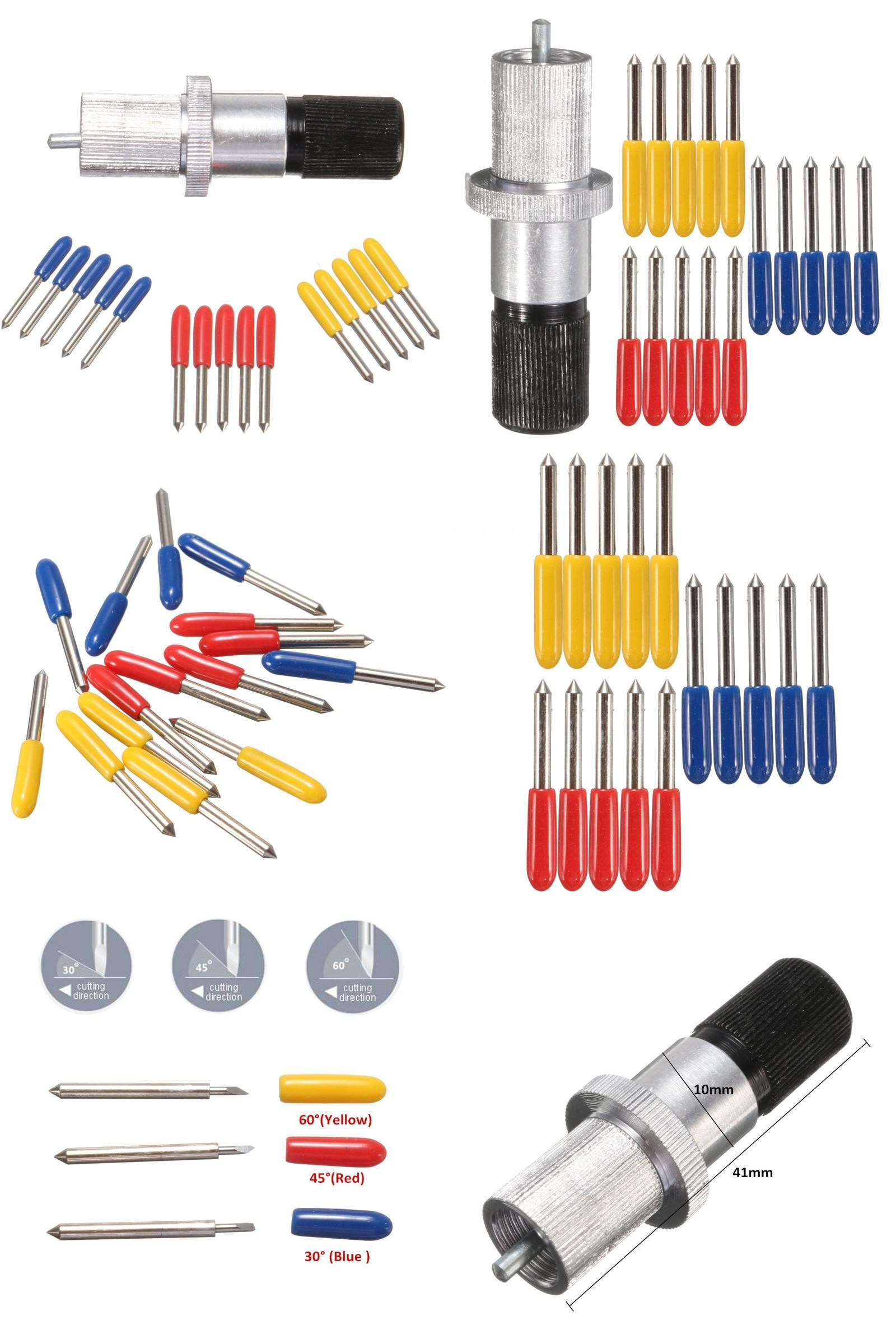 15 Pcs//Set 30° 45° 60° Degree For Cutting Plotter Vinyl Cutter Blade With Holder