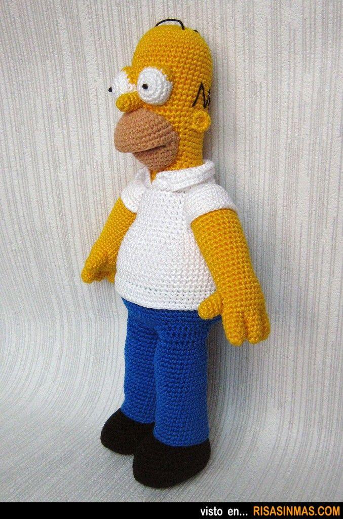 Homer Simpson versión Amigurumi. | amigurumi | Pinterest ...