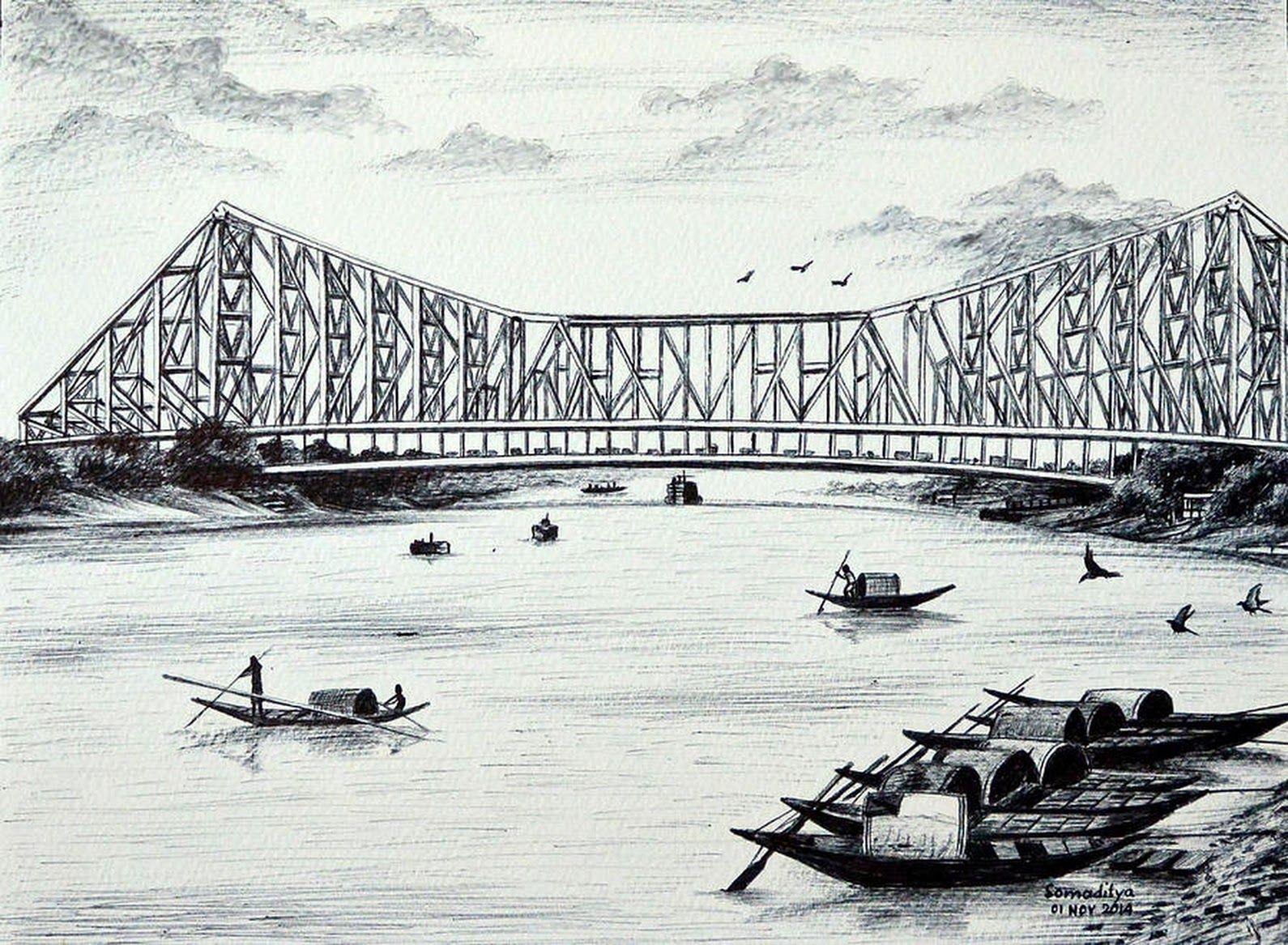 Howrah bridge kolkata by somaditya das ramkrishna