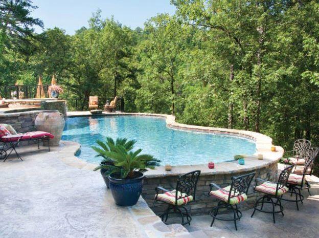 A Pool With A Bar Around It Swimming Pools Backyard Backyard Pool Backyard