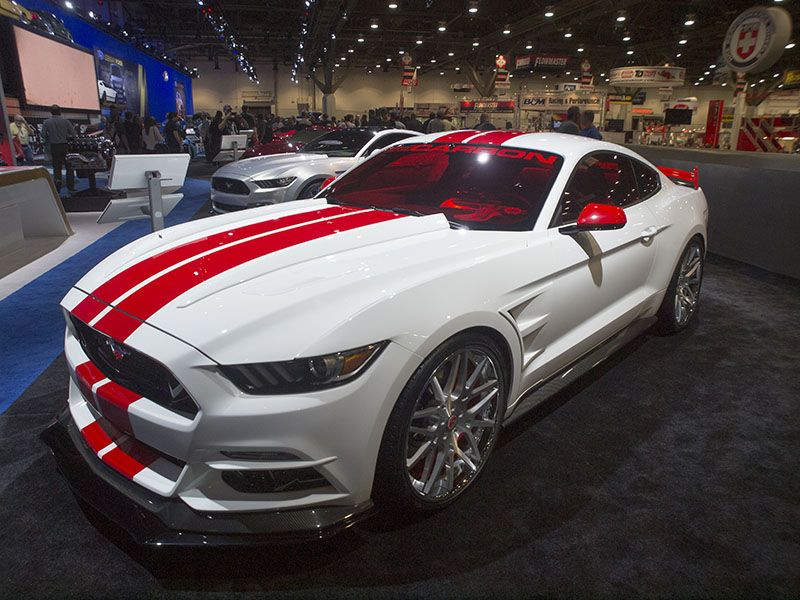 14 Tuned Ford Mustangs At Sema Ford Mustang Red Mustang Mustang