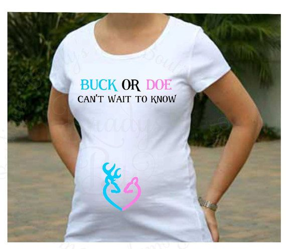 e4a5917d53074 Maternity Shirt Buck or Doe Gender Reveal Shirt by BradysBits ...