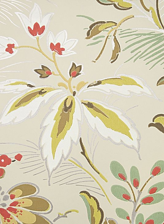 Large floral print wallpaper elizabethan style floral wallpaper