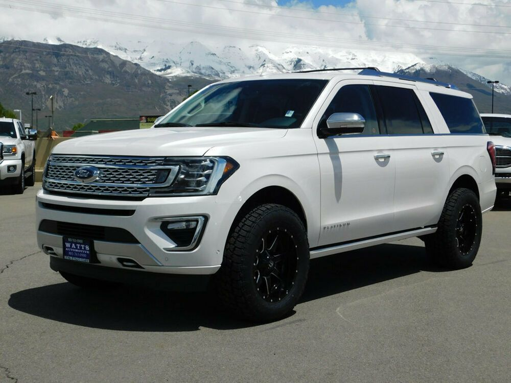 2019 Ford Expedition Max Platinum Lifted Expedition Platinum Max 4x4 Suv Custom New Wheels Tires Leather Nav Roof Ford Expedition Ford Suv 2019 Ford