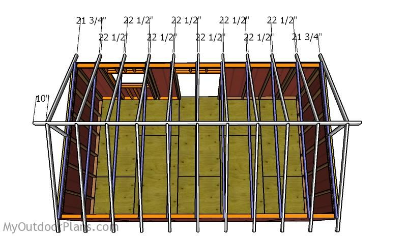 12×20 Shed Roof Plans Roof plan, Diy shed