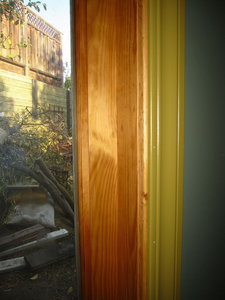 Minwax Honey Pine Stain On Our Anderson Sliding Patio Door