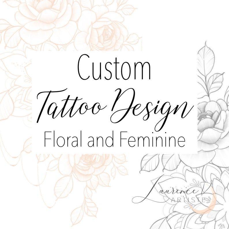 CUSTOM Tattoo Design | Custom digital tattoo design | Personalized tattoo drawing | Floral Mandala Feminine Delicate Tattoo