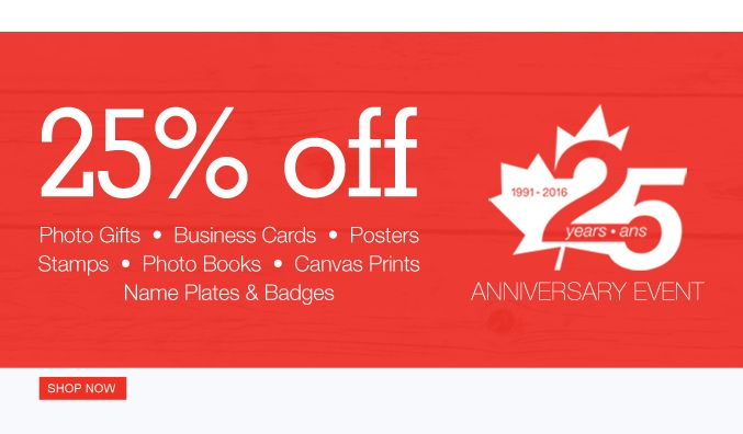 Staples copy print canada 25th anniversary sale save 25 off staples copy print canada 25th anniversary sale save 25 off photo gifts business cards photo books poster reheart Gallery