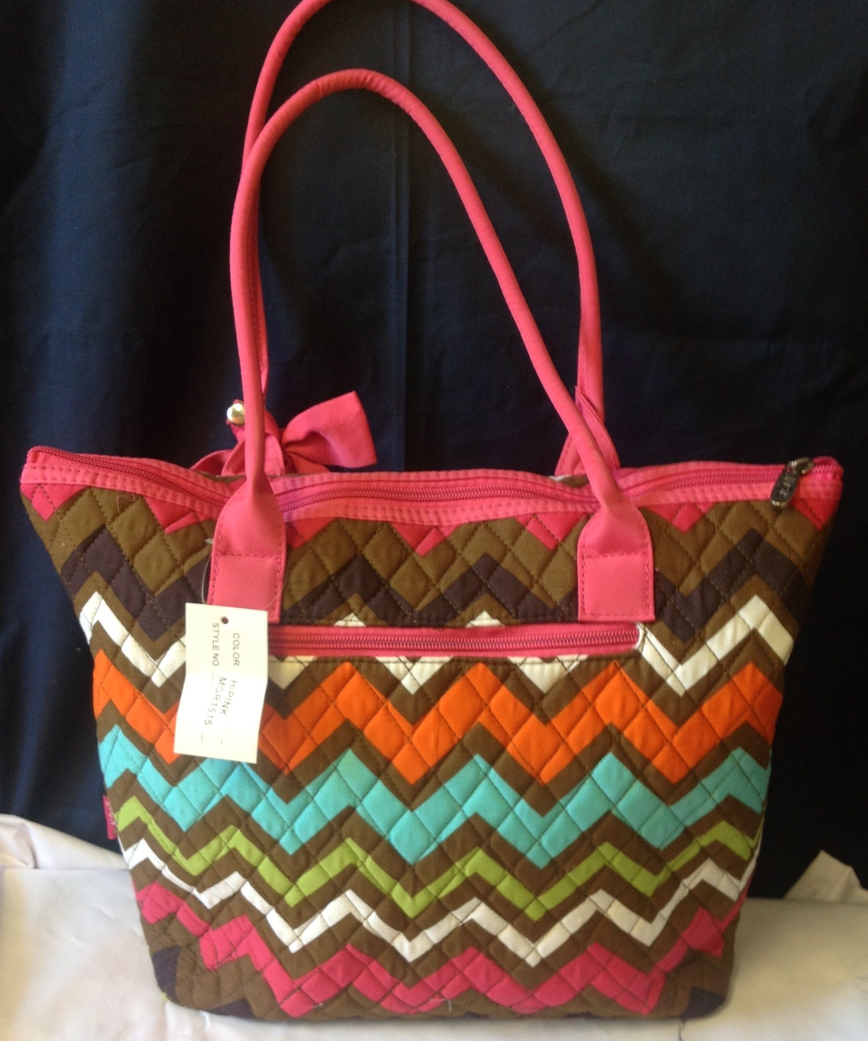 Multi color quilted bag