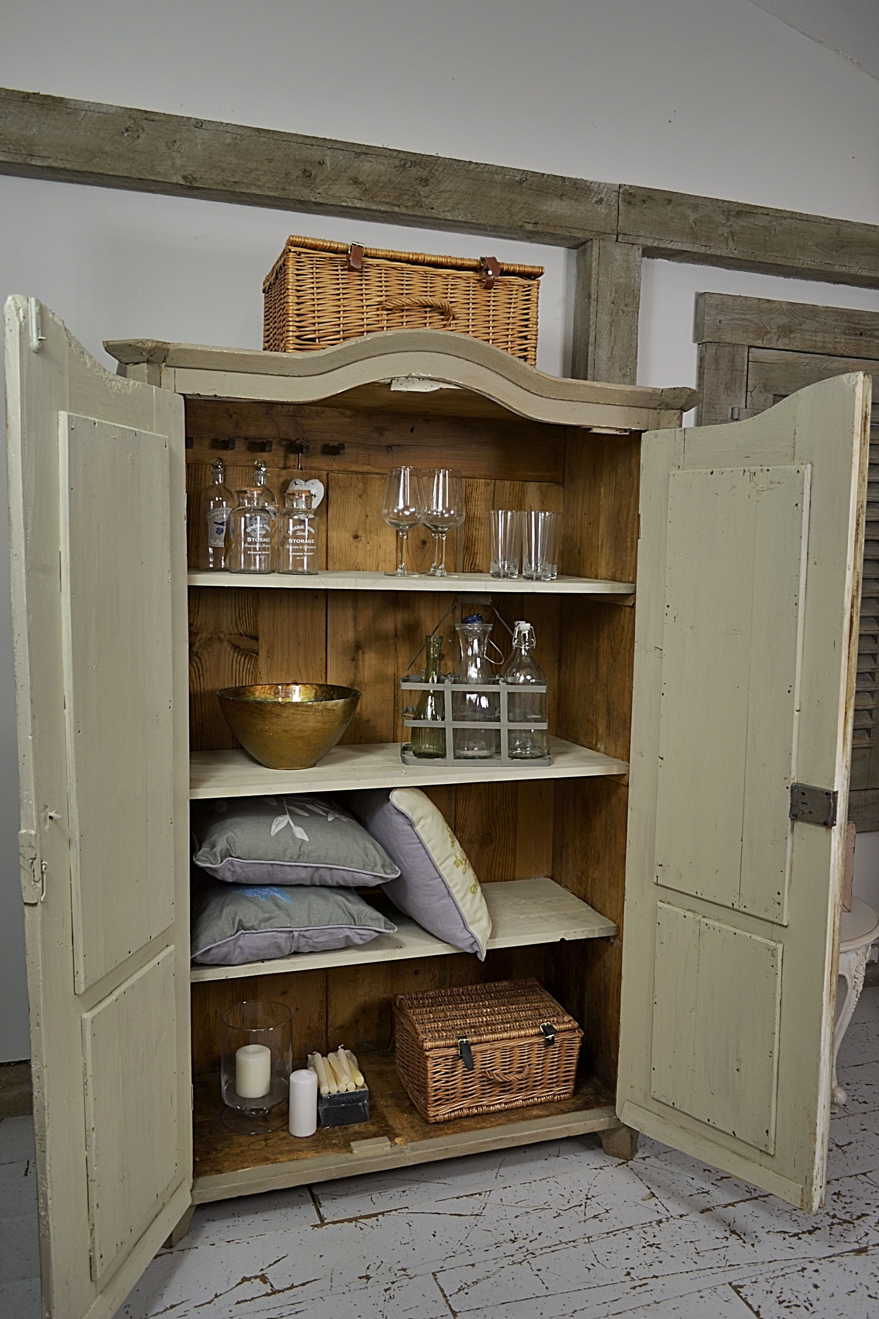 this charming hungarian cupboard could be used as a bookcase