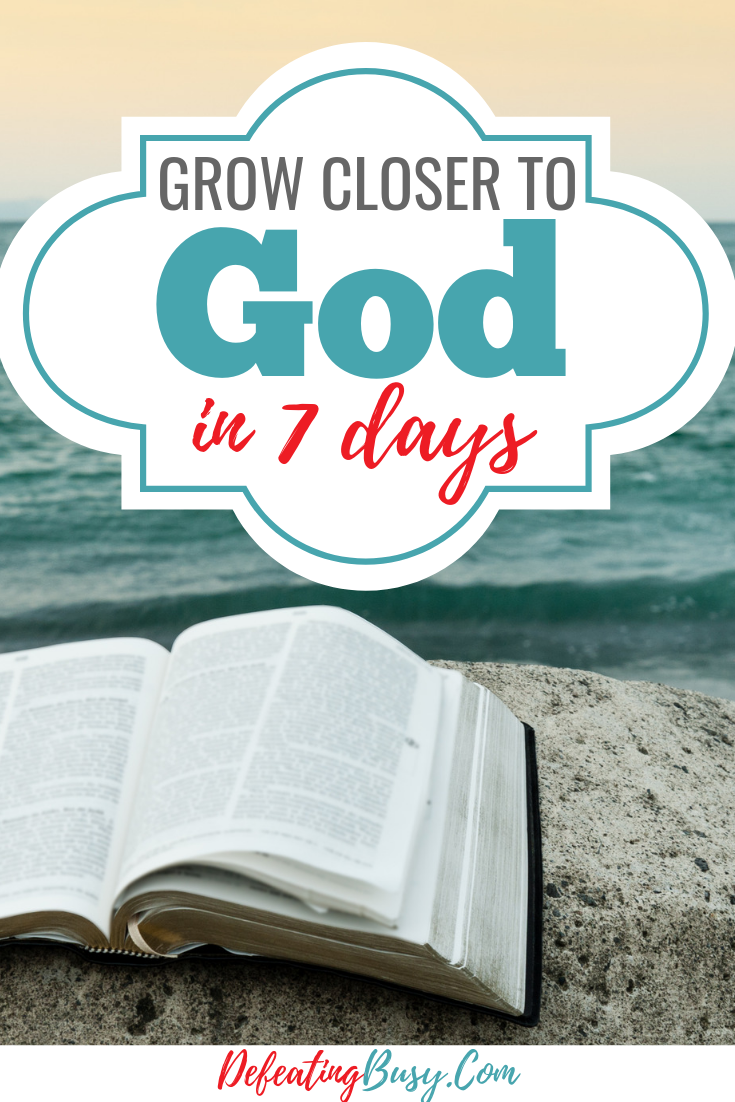 Grow Closer to God in 7 Days Bible study lessons, Trust