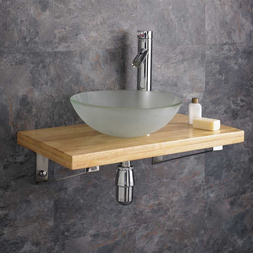 Glass Sink On Wood Counter Top Glass Wash Basin Floating Bathroom Sink Wood Sink Basin Sink Bathroom