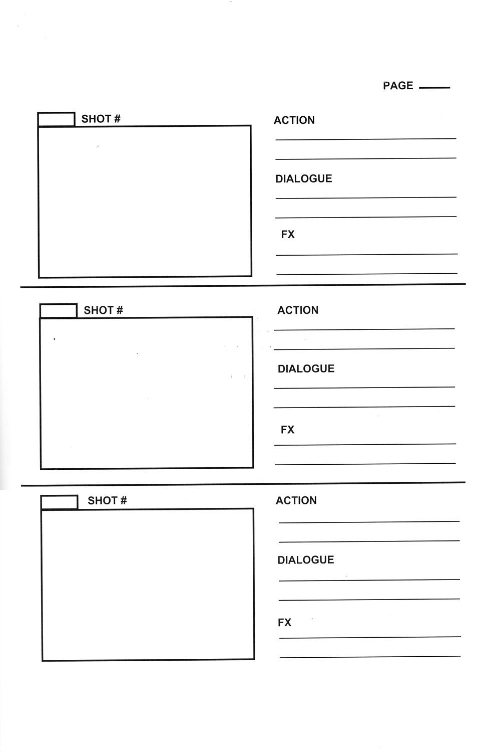 Storyboard template storyboard templates to plan your for Trailer templates for imovie