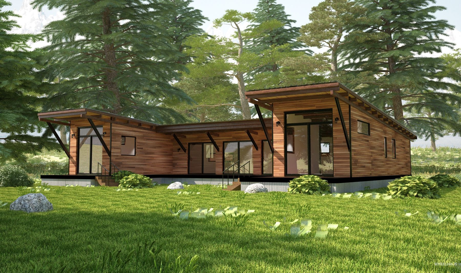 The hitch haus 1500 is our original multi unit modular for Modular cabins and cottages