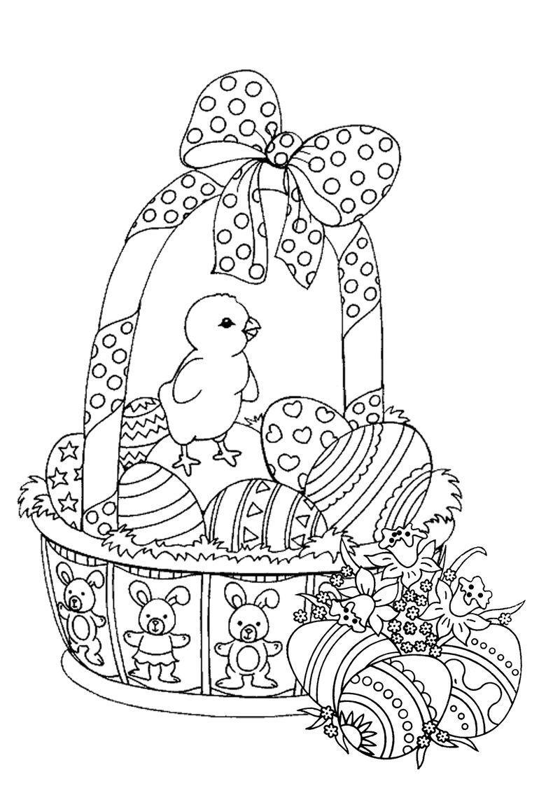 Easter Basket Coloring Pages For Adults Adultcoloringpages Easter Basket Coloring Pages For Adults See Malvorlagen Ostern Malvorlage Hase Malvorlagen Fruhling