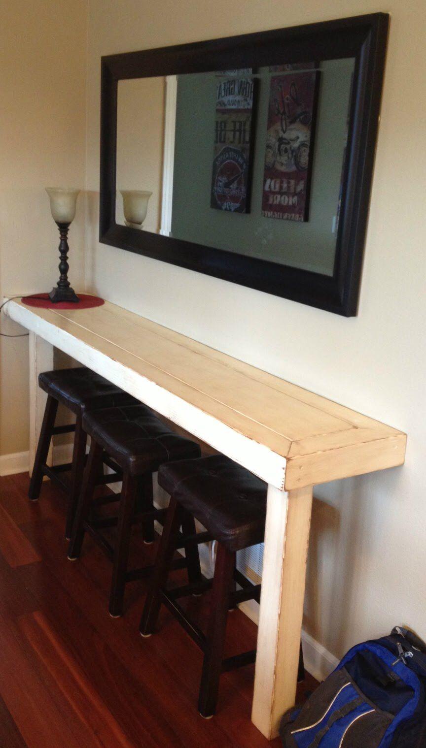 Diy Narrow Countertop Home Kitchen Bar Table Home Decor