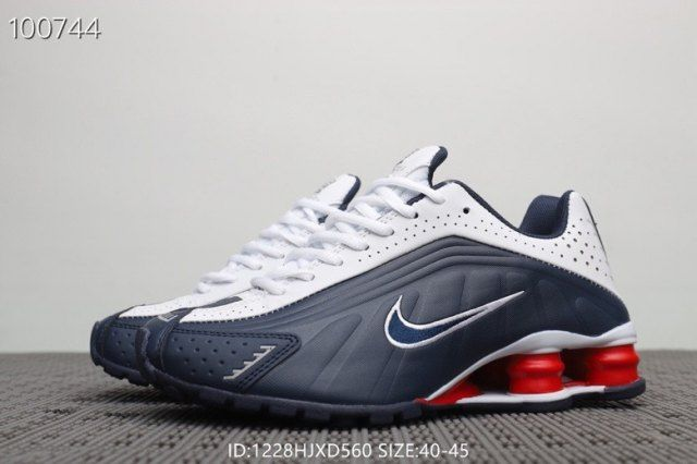 authorized site best choice fashion style Nike Shox R4 Navy Blue Red White Men's Trainers Running ...