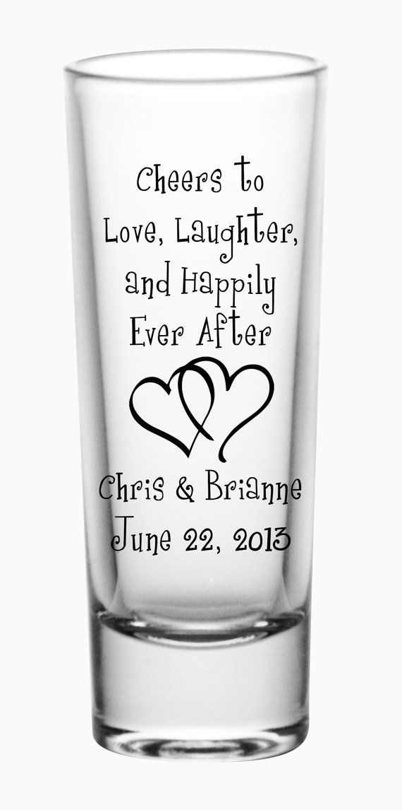 60 Custom Happily Ever After Wedding Tall Shot by LogoBarProducts