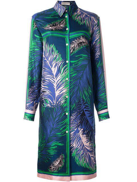 EMILIO PUCCI Longsleeved Shirt Dress. #emiliopucci #cloth #dress
