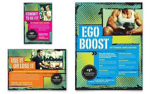 Strength Training Flyer \ Ad Template Design StockLayouts - free sports flyer templates