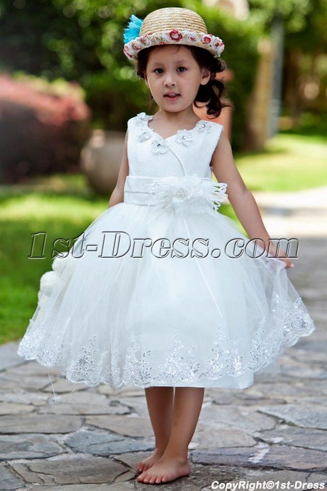 e3b188644a7 Ostrich Feather Luxury Flower Girl Dress Ball Gown 1st-dress.com ...