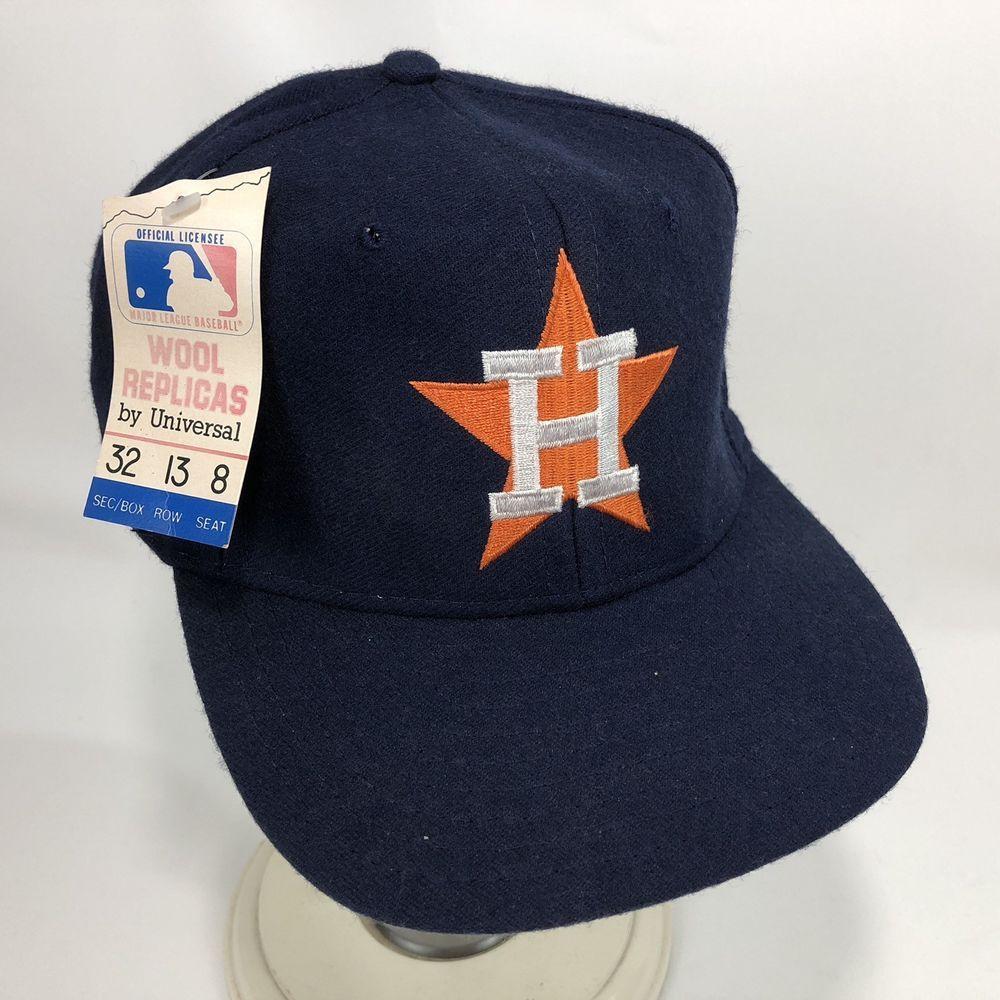 New Houston Astros Baseball Hat Wool Replica Adjustable MLB Snapback Cap  Men VTG  WoolReplicas  BaseballCap bf28f719df57