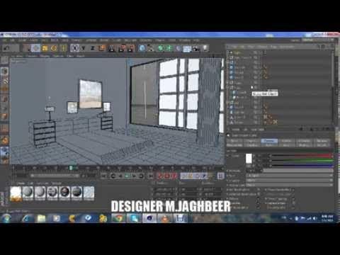 CINEMA 4D R15 Building rooms Vray - DESIGNER M JAGH | 3D