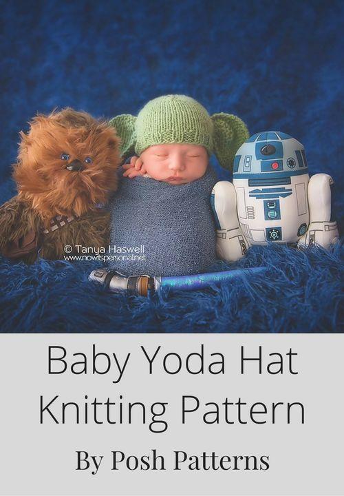 Free Knit Yoda Hat Pattern - This adorable newborn Yoda hat knitting pattern  is… 59e0a5a55f7