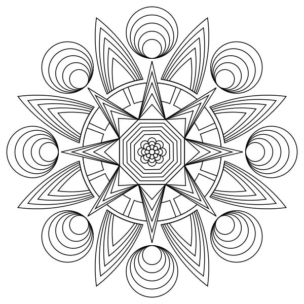 Mandala Coloring Free Download