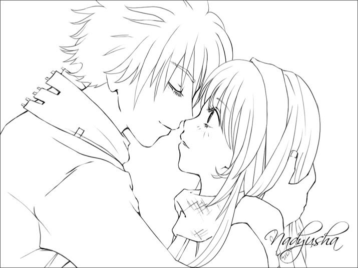 cute couple coloring pages colour my characters - Anime Wolf Couples Coloring Pages