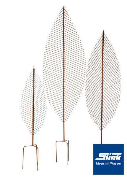 Gartendeko 100 cm Rankstab Blatt online kaufen u2013 Rankhilfe - gartendeko aus holz und metall