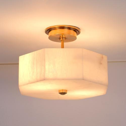 Vaughan Designs - oakley alabaster flush light - Butler's ...