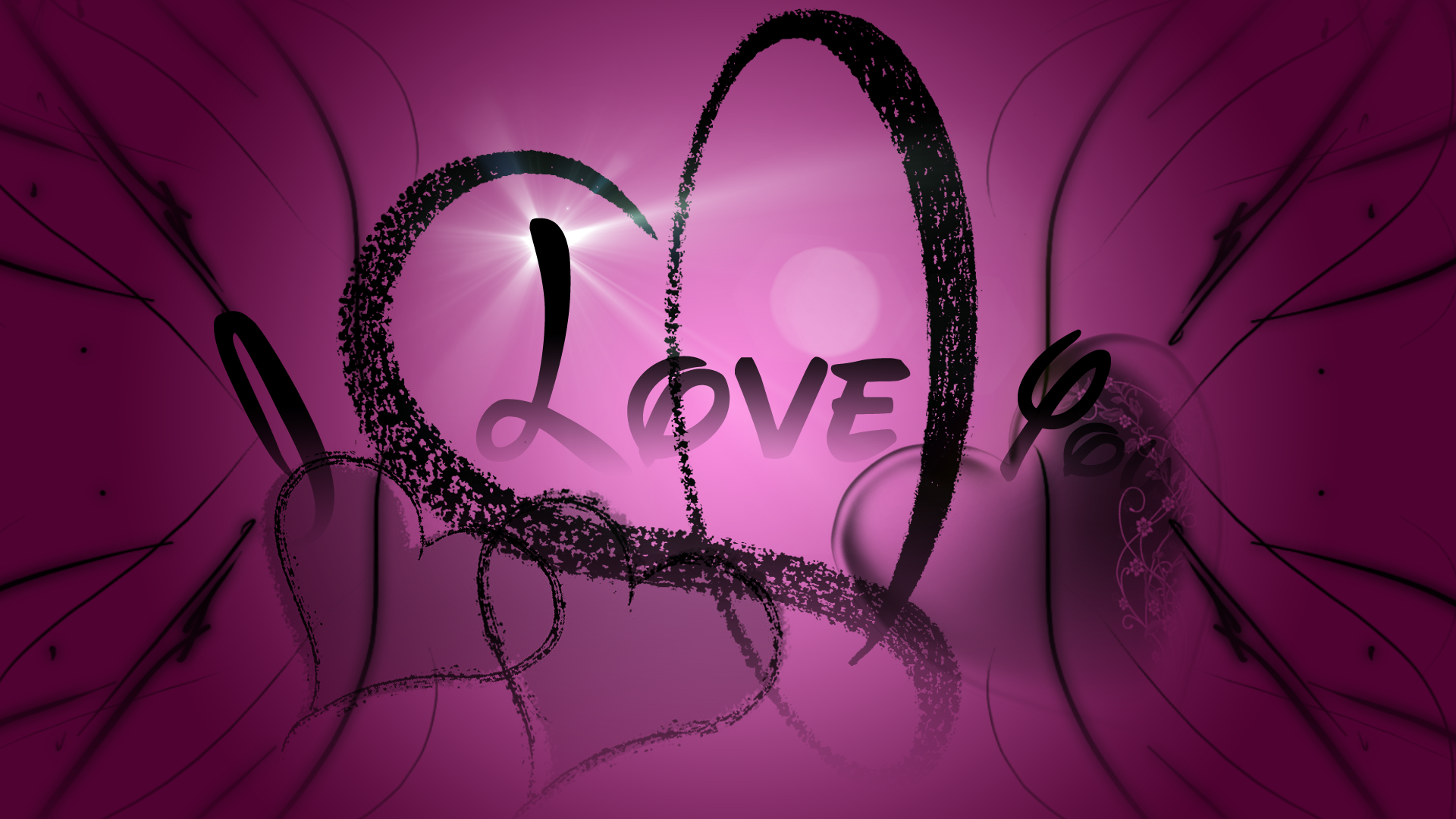 Love You Wallpaper Purple Love Heart Wallpaper Purple